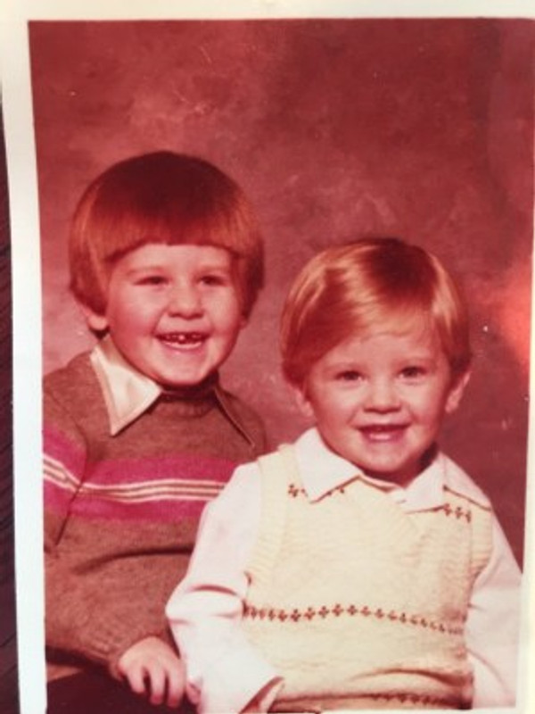 My brother and me (right) roughly 3 years old.