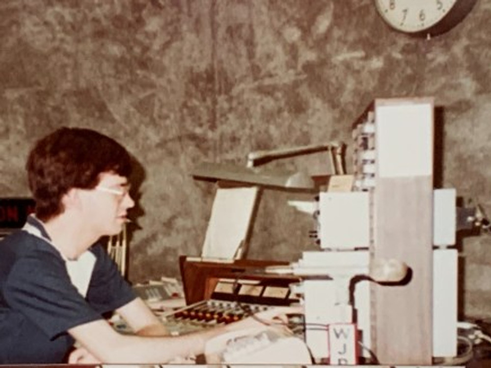 On the job, summer of '84.