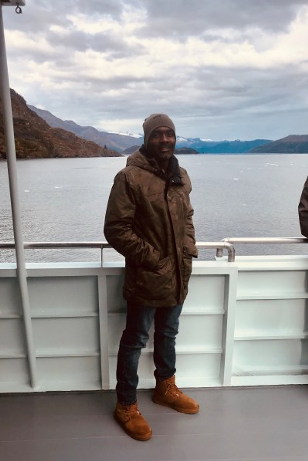 Carlin while enjoying an Alaskan cruise.