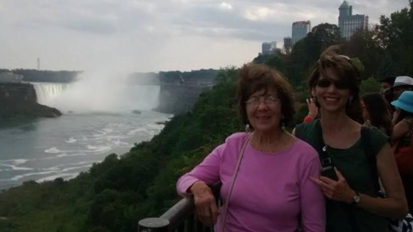My mother and me at Niagara Falls, 2014.