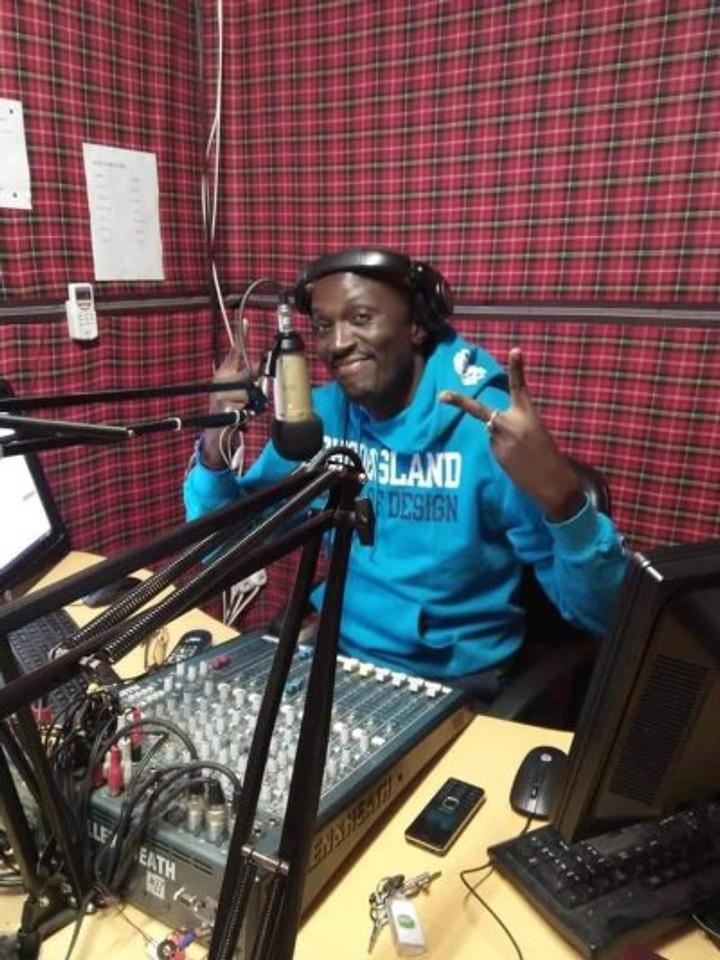 John at the radio station in Nairobi.