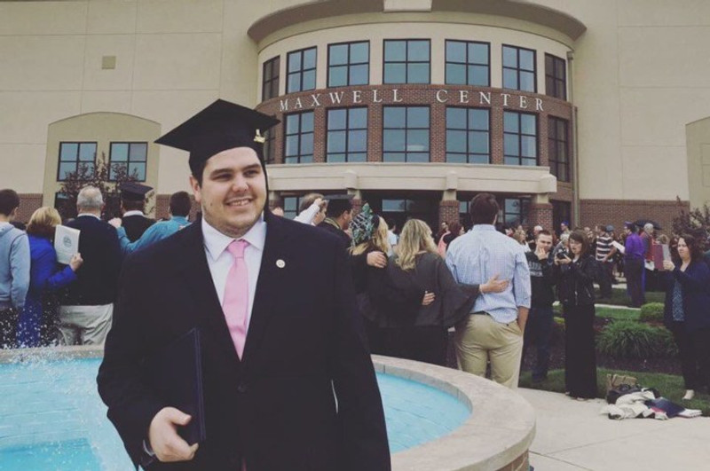 Mitch at his college graduation, 2017.