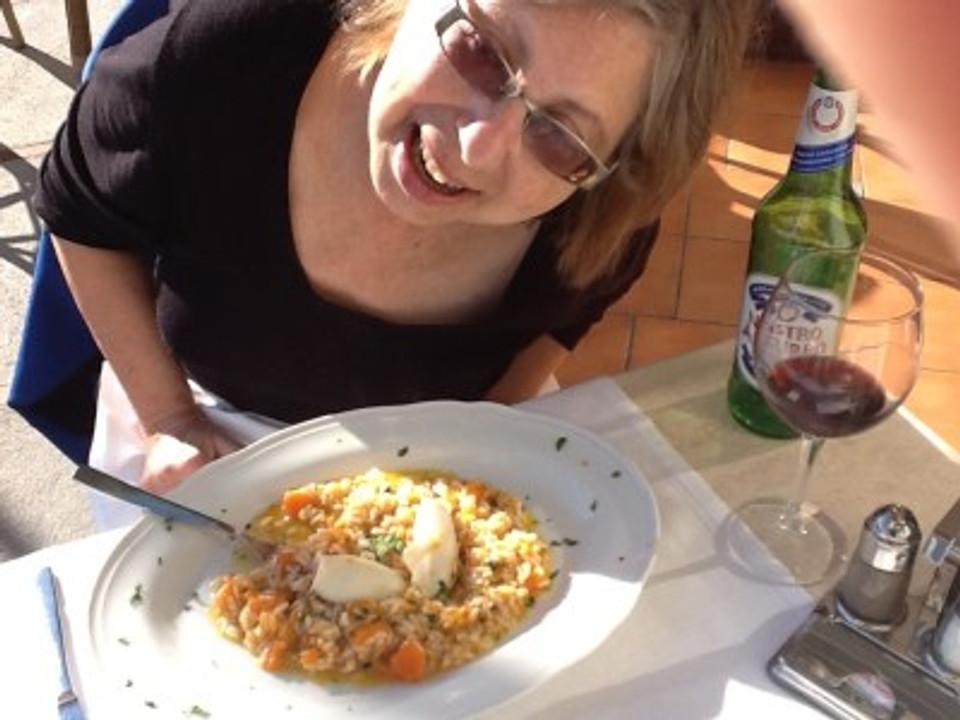 Here I am photobombing my pasta, whilst celebrating on the Amalfi coast.