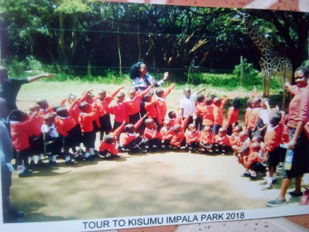 Me with my class on a field trip, 2018.