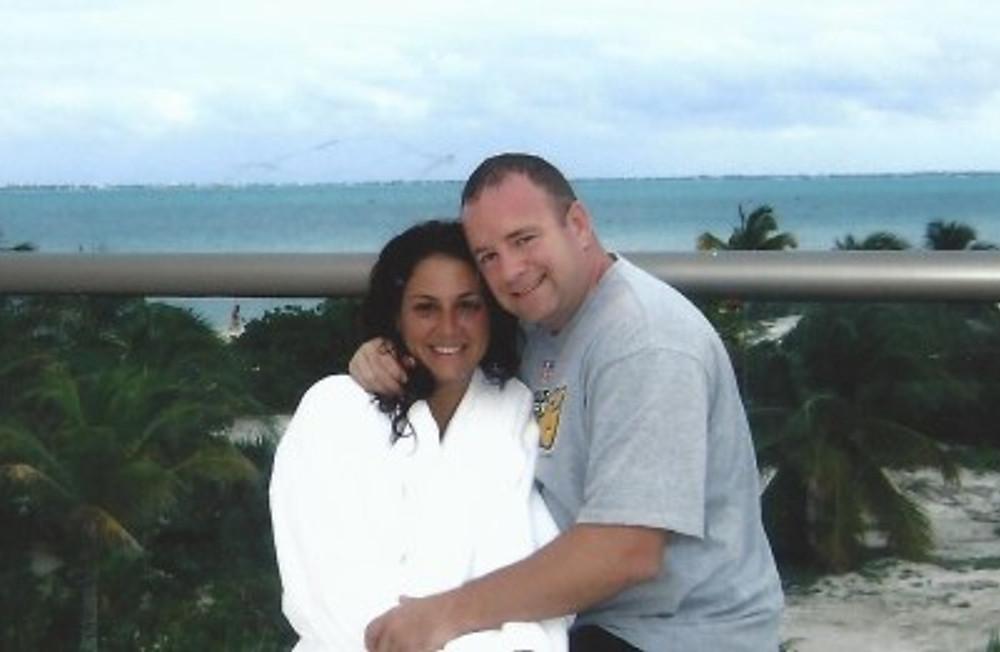 On our honeymoon, 2009.