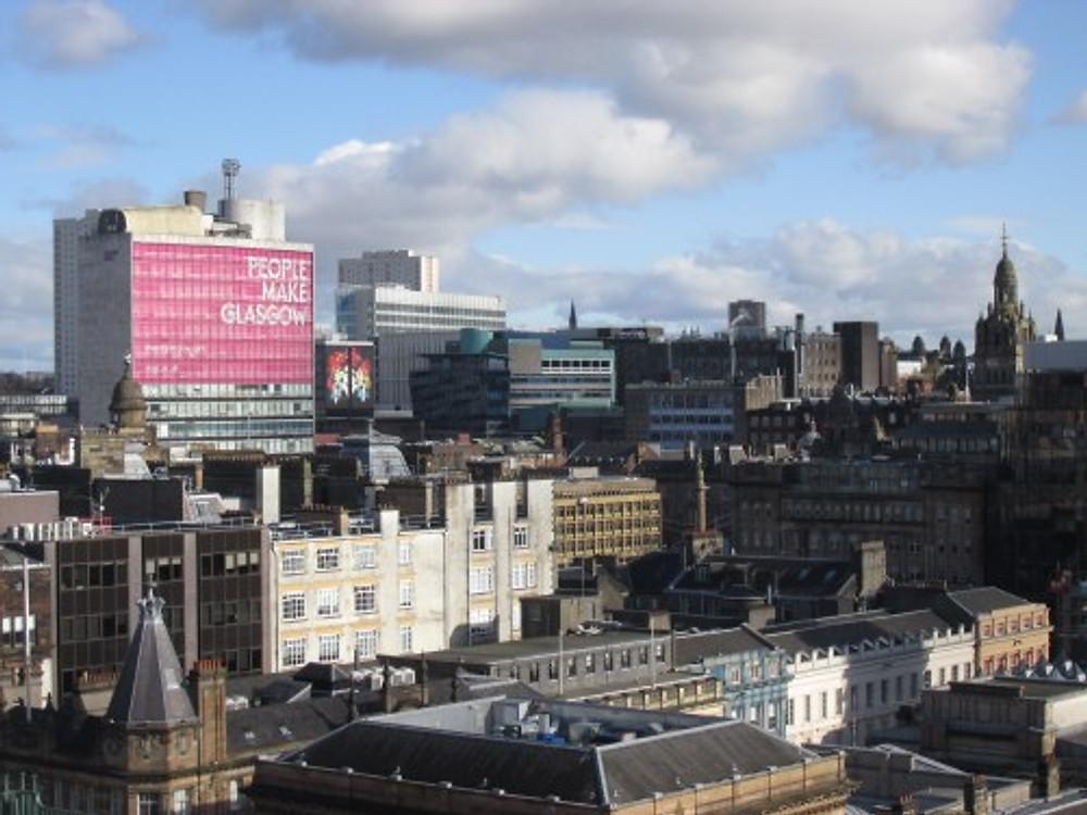 Glasgow's skyline, 2019.
