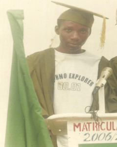 My matriculation ceremony into the University of Nigeria in 2007.