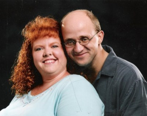 Our wedding photo, Summer 2003.