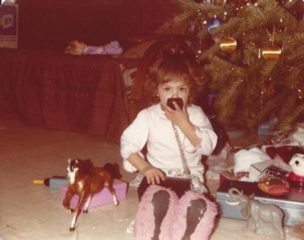 Me on the walkie-talkie, c. 1980.
