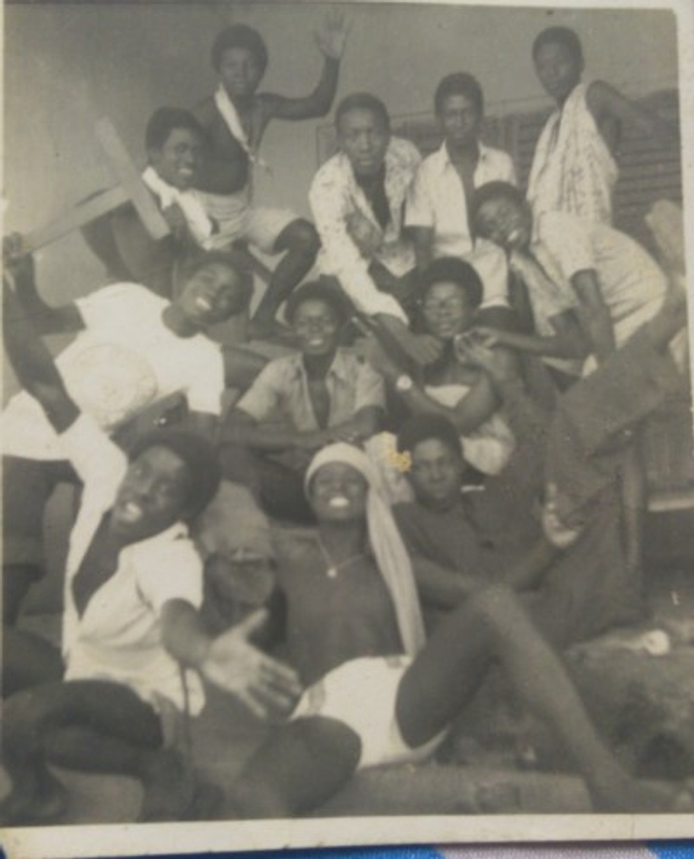 With some of my classmates, c. 1975.