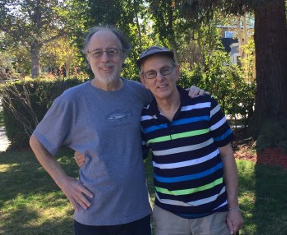 My husband Robert (left) with my brother Bruce (right).