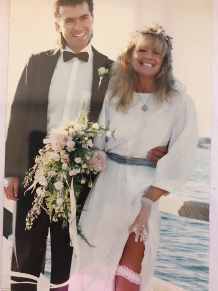 Dean and I on our wedding day, 1991.