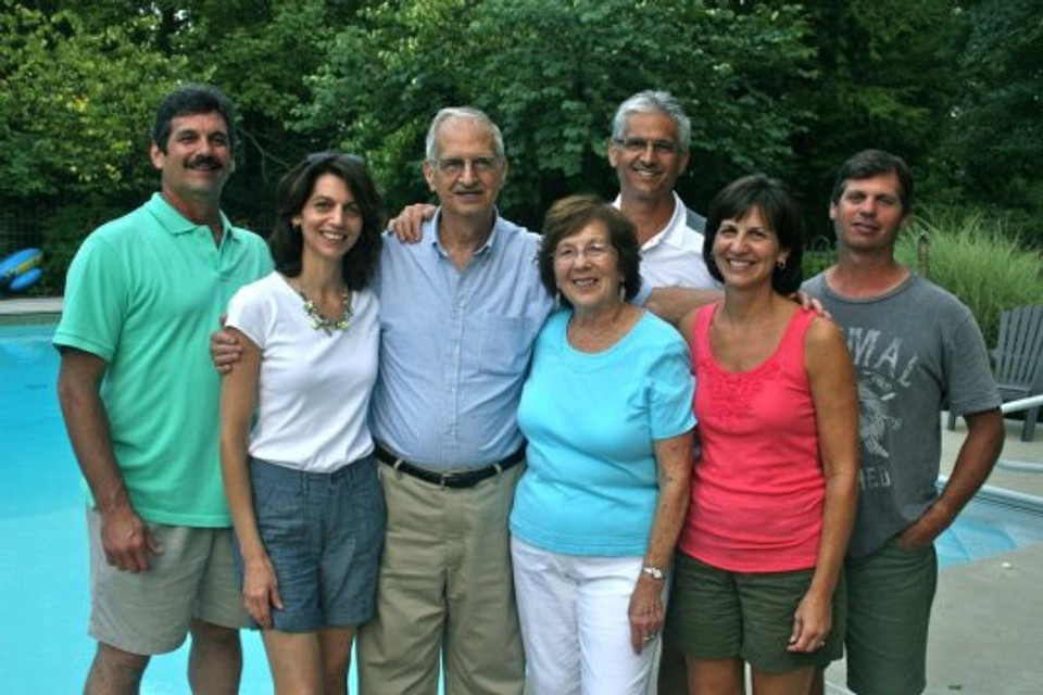 With my family (I am standing second from the left), 2011.