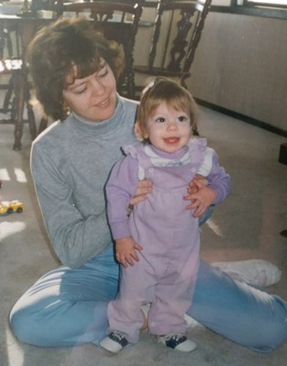 With my mom when I was a baby.
