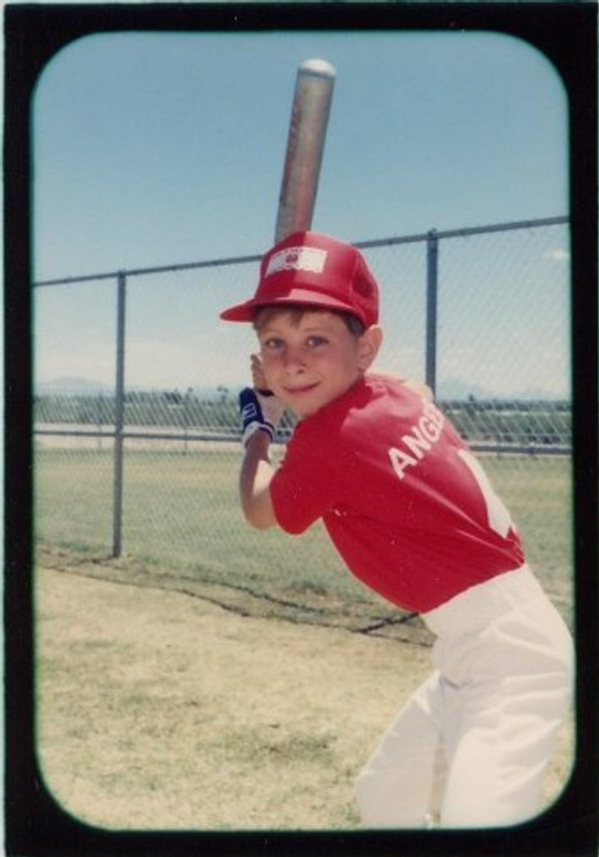 Me in Little League Baseball, 1990.
