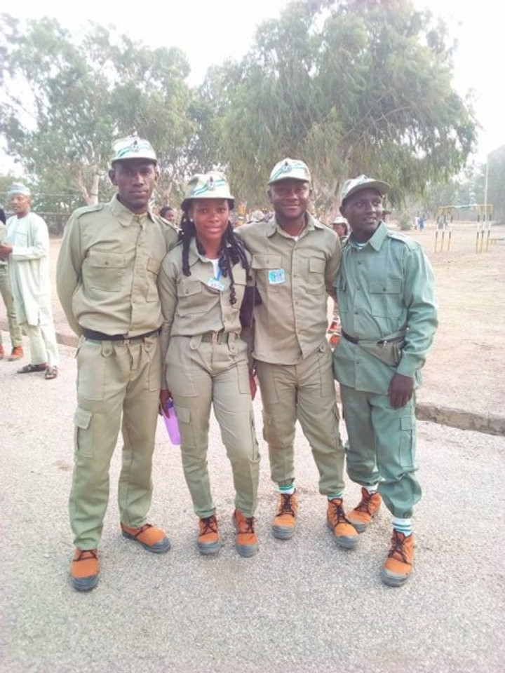 With some colleagues on site at the Federal Government Orientation Camp in northern Nigeria, 2019.