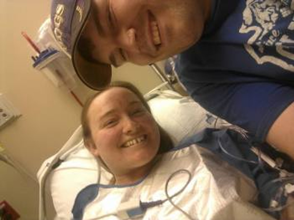 Michael and me before my second surgery.