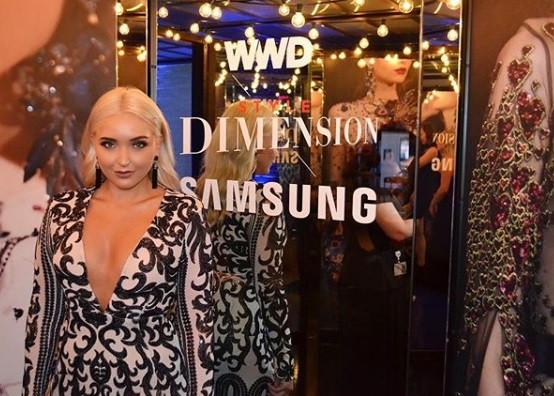 At Fashion Week, 2017.