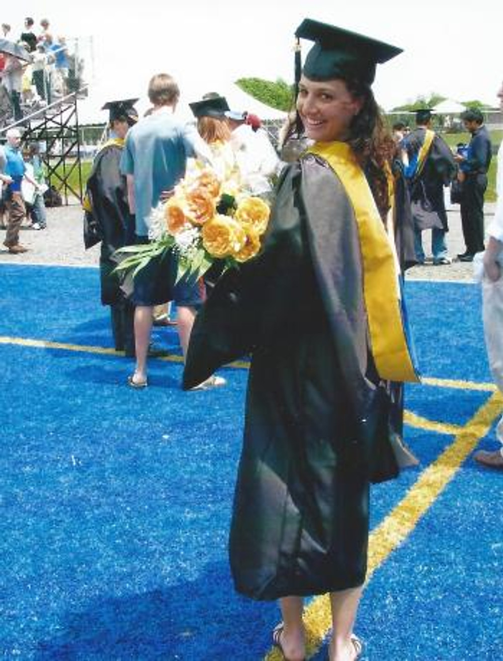 At my graduation from the University of New Haven.