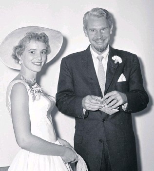 With my husband, Piet Venter, 1956.