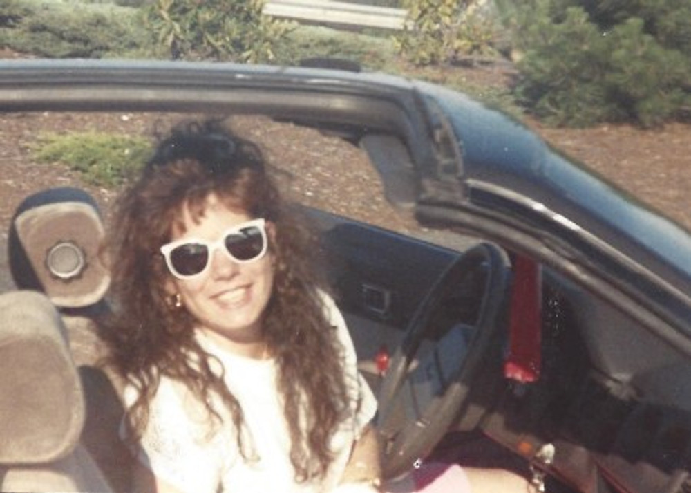 Me in my car, sometime in the '90s.