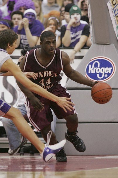 My senior year of high school, playing in the state tournament, 2007.