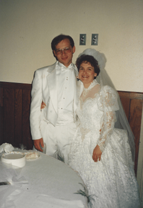 Kathleen and I on our wedding day, 1991.