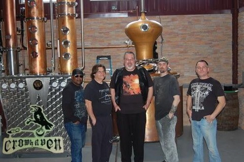 Me (far left) with my Crowhaven bandmates.