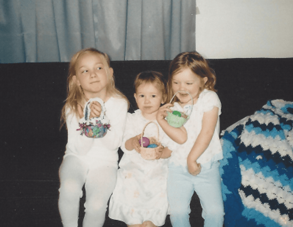 Our girls, 1998.