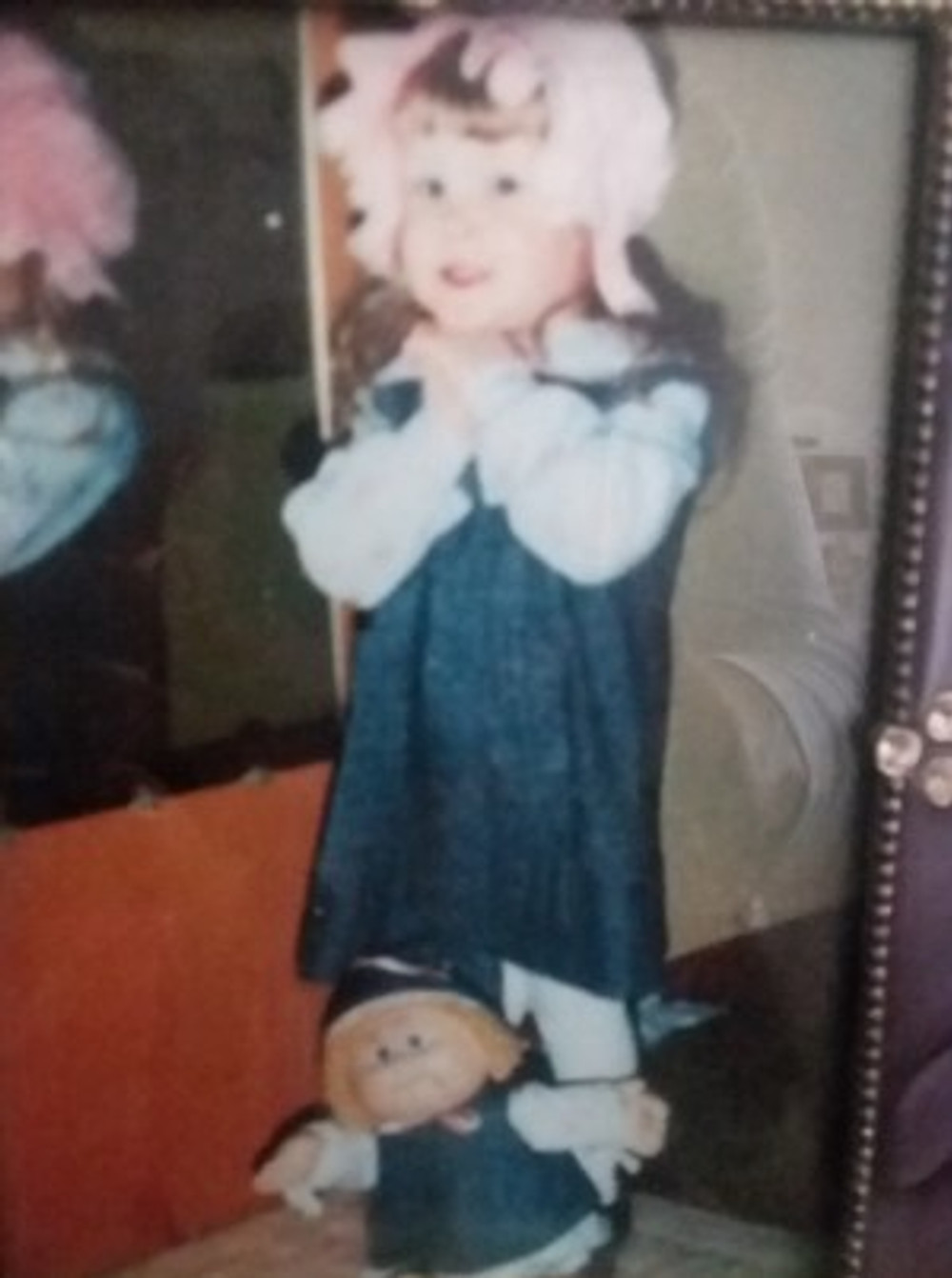 When I was a little girl, I was my older sister's personal baby doll.