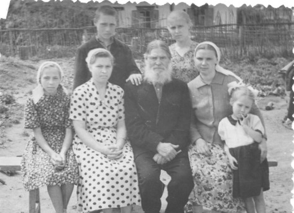 Alexander-Krill with his family, c. 1945.
