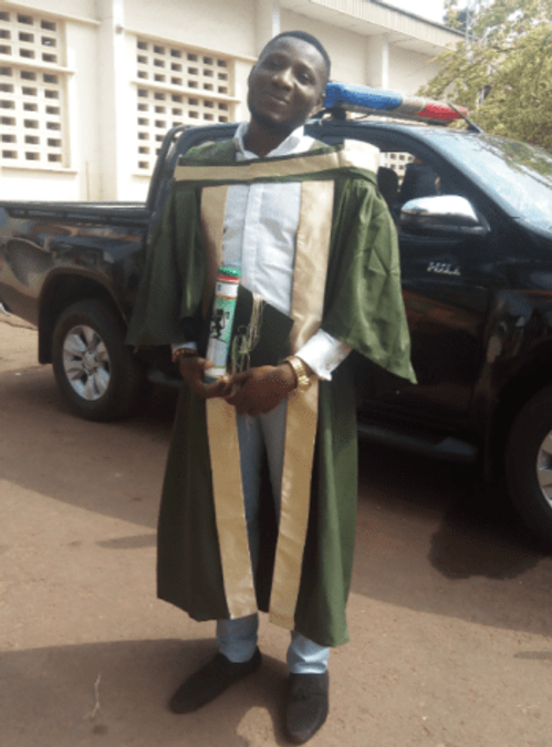 My master's convocation ceremony in 2018 where I was also one of the best students in my class.