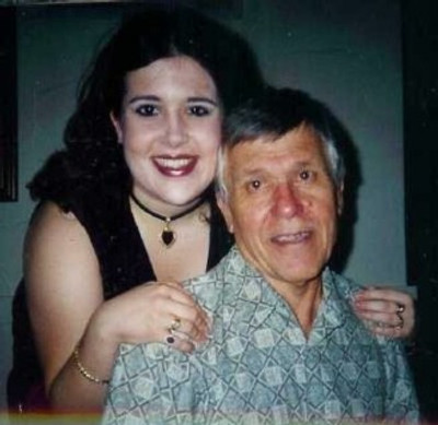 James with his daughter Nicole, 2003.