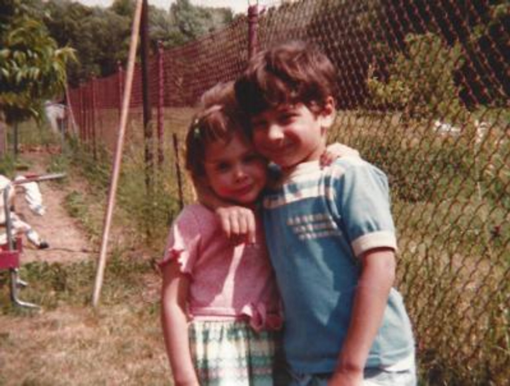 Me and my brother, 1980.