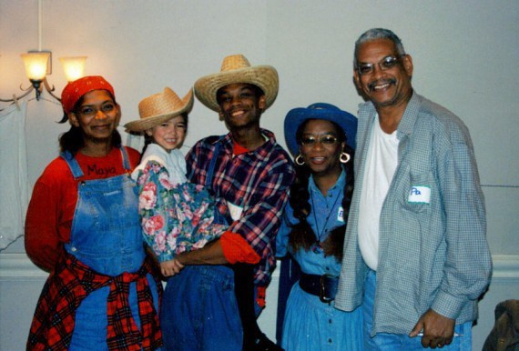 With my family at a local fundraiser, 2006.