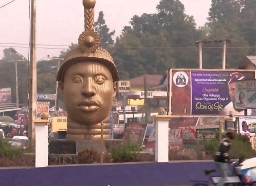 Statue of Oduduwa in Ile-Ife in the town where I grew up. Photo credit: guardian.ng.