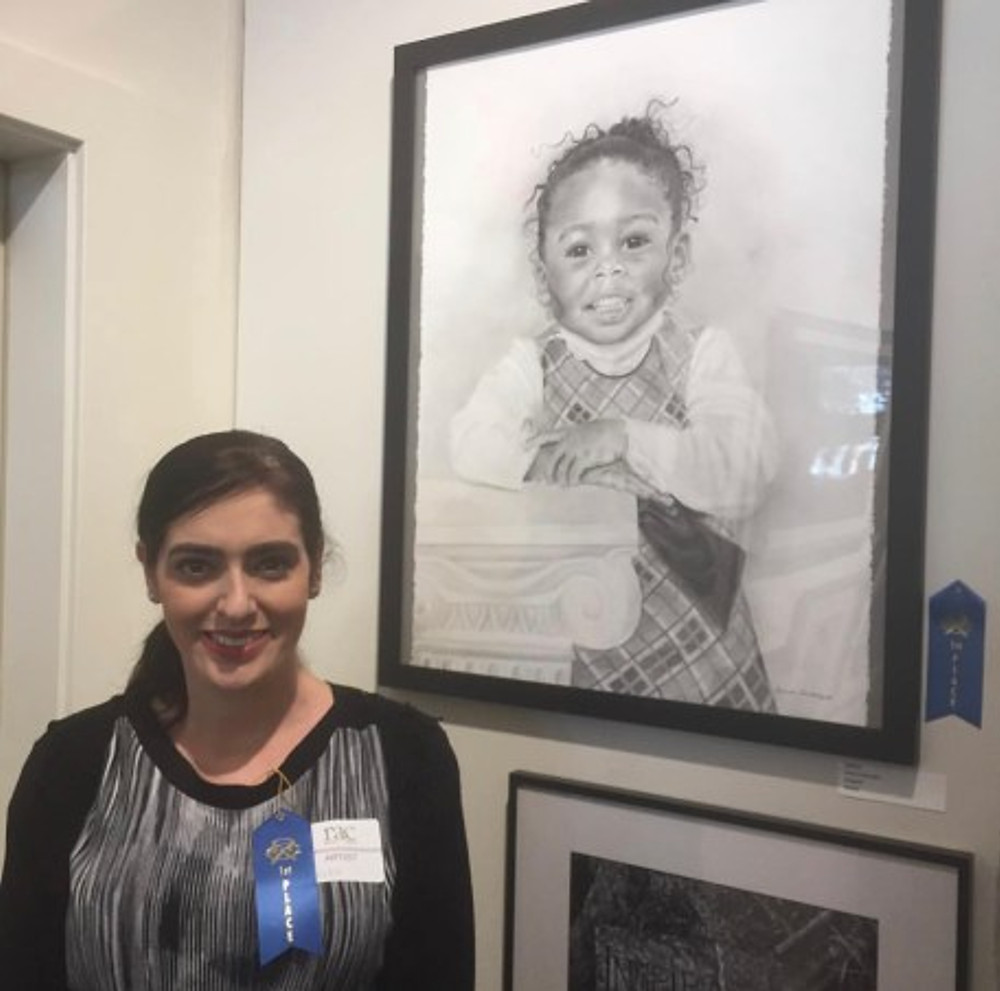 With my first-place drawing!