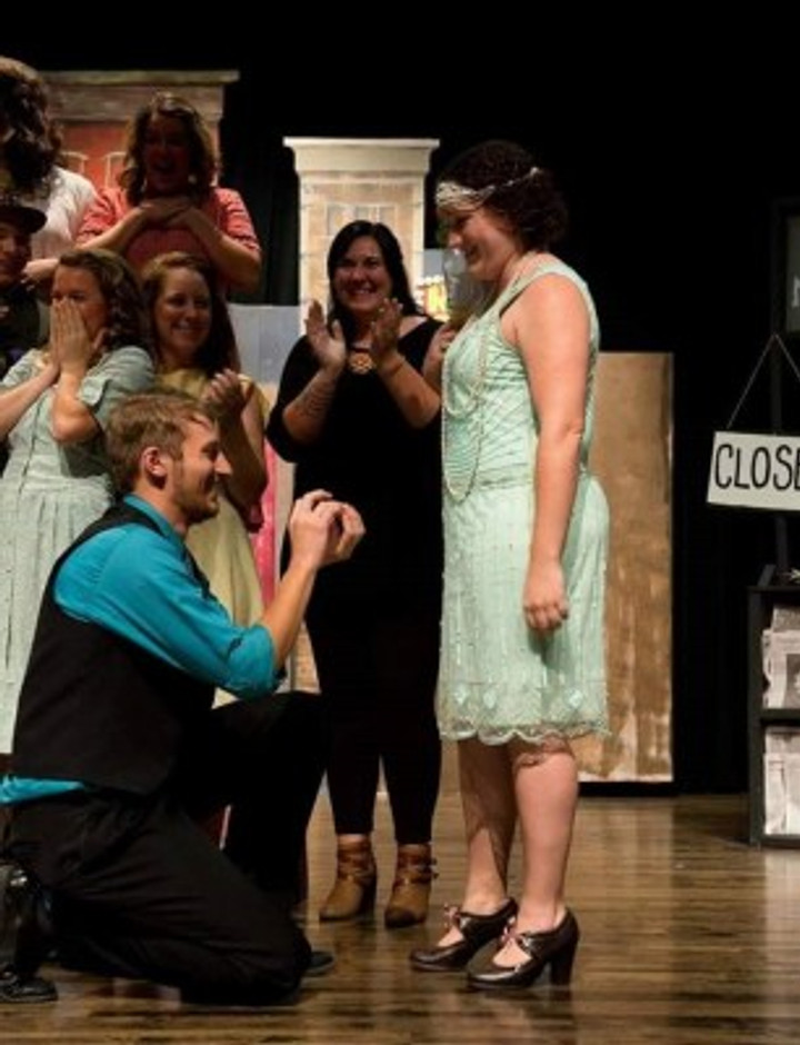 Michael proposing to me after a performance.