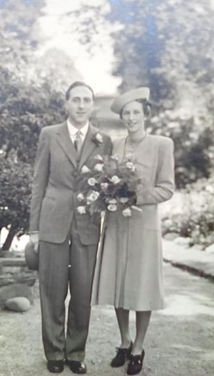 Margaret and me on our wedding day, 1940.