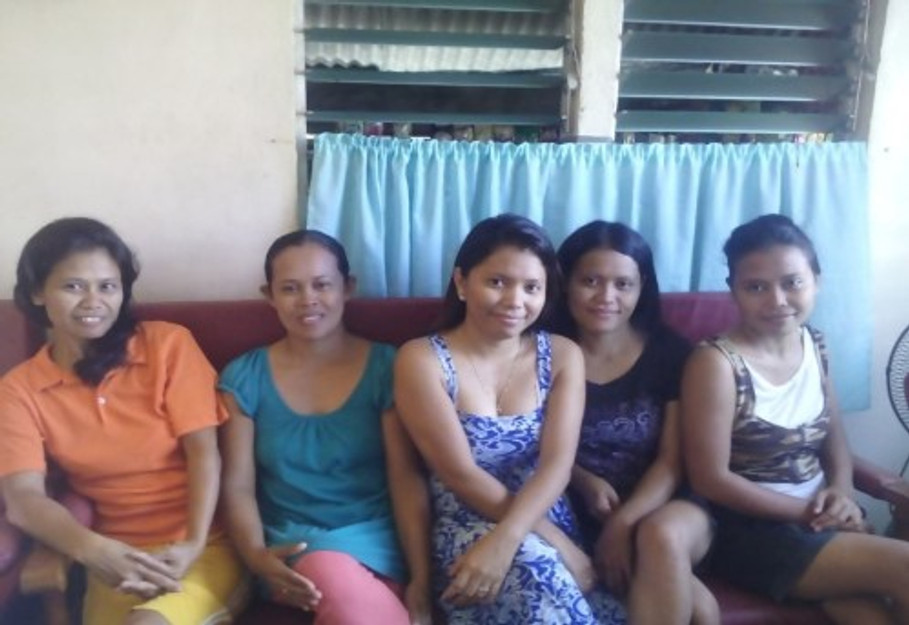 With my four sisters (me in the middle).