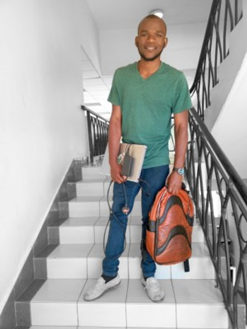 Kelvin at university, 2019.