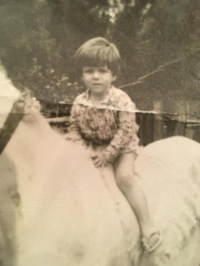 Little me on horseback, 1973.