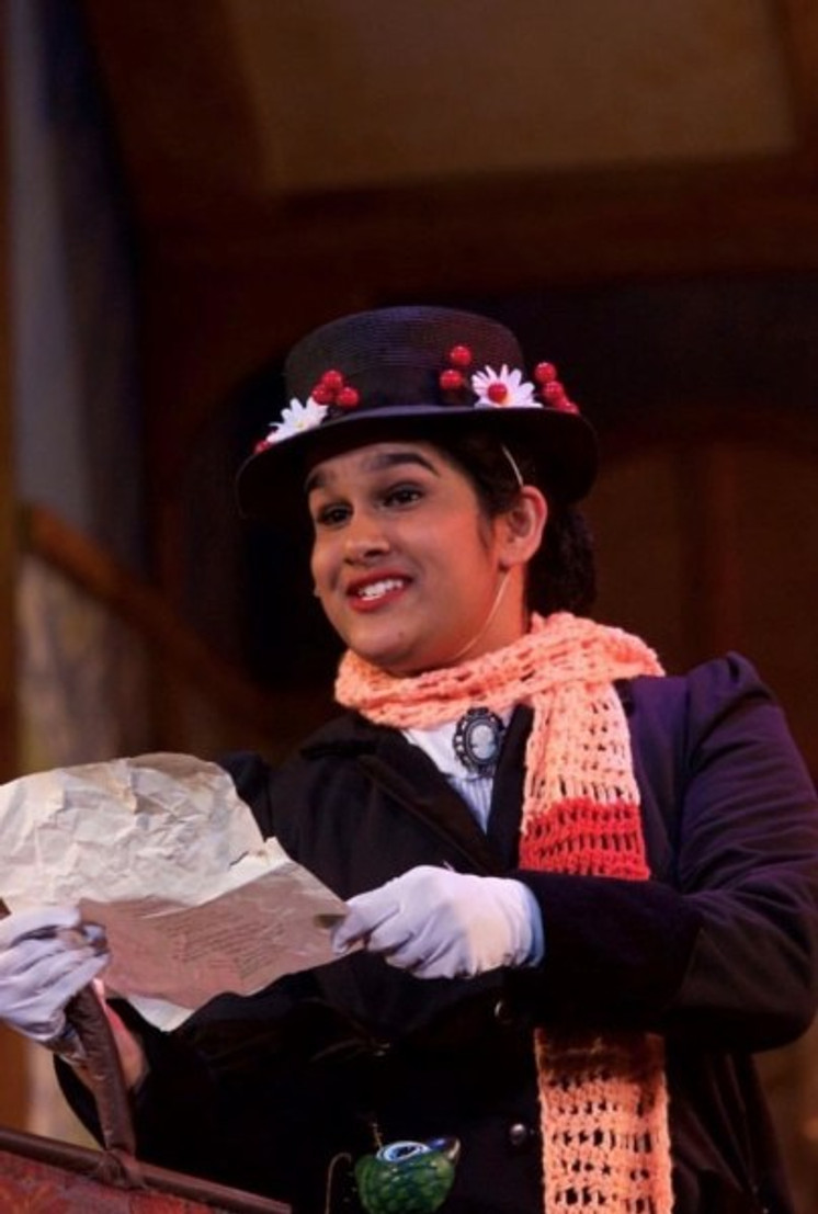 My first high-school leading role in junior year, playing the titular character in Mary Poppins.  Photo by Roger Baumgarten.