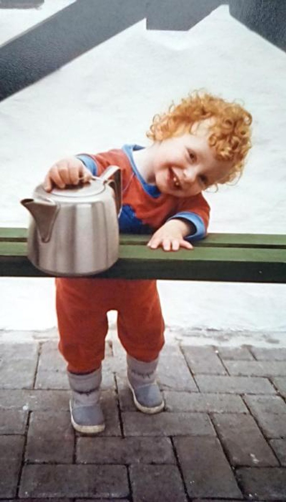 Me, age two, 1988.