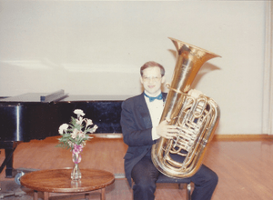 Me, before a grand performance.