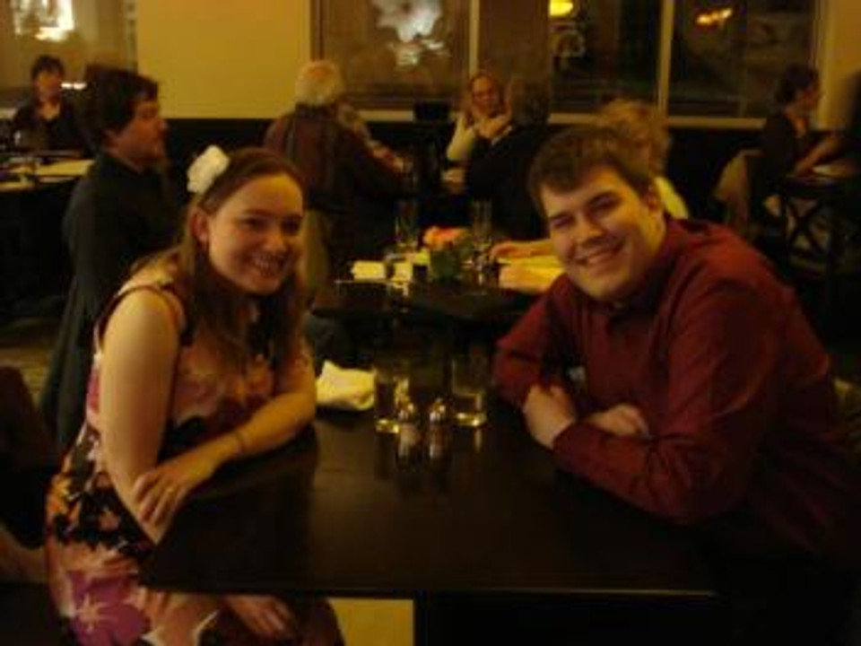 Michael and me on our first real date, 2012.
