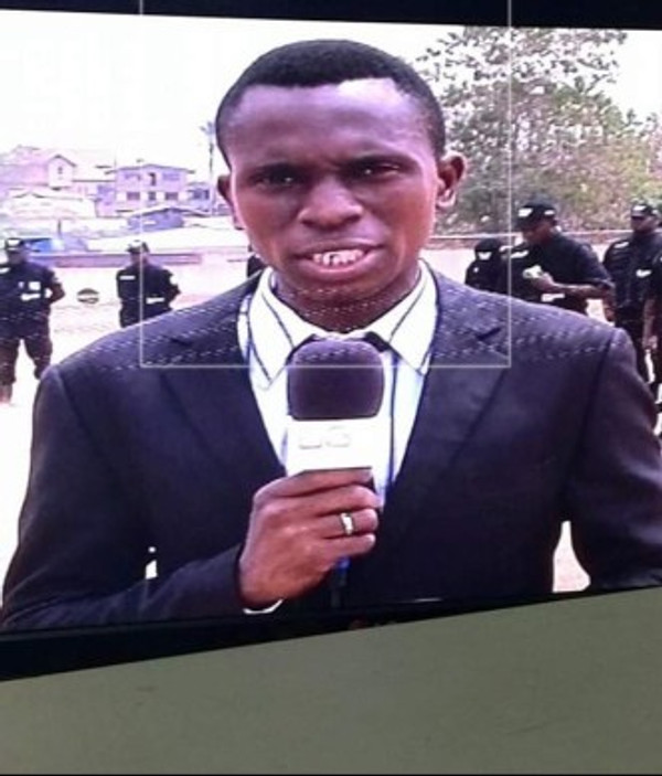 Reporting live from a special anti-robbery squad exhibition in Abeokuta, 2016.