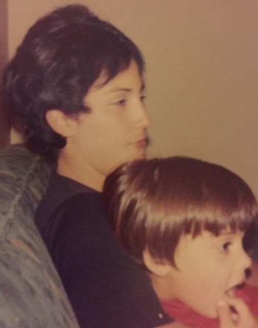 My son and me, 1970.