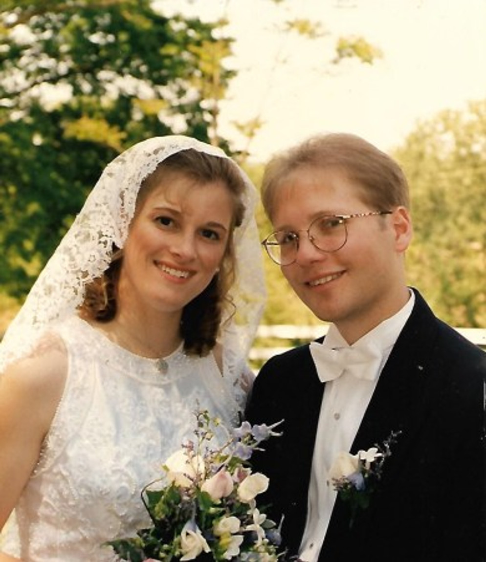 From our wedding day, May 24, 1997.