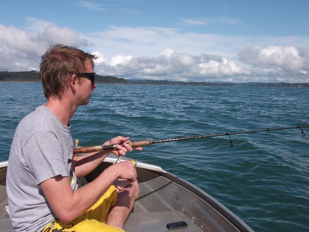 Dan fishing.